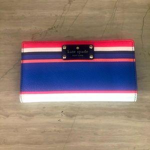 Kate Spade Stacey Wellesley tropic stripe wallet.